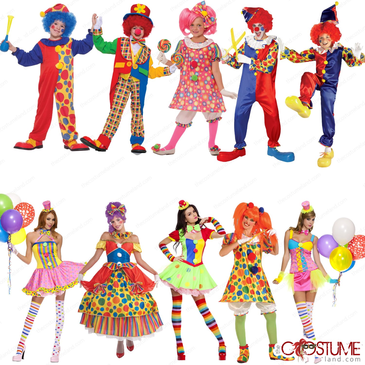 Boys Fancy Dress Costume Party Outfit SALE Kids Bubbles The Circus Clown Girls