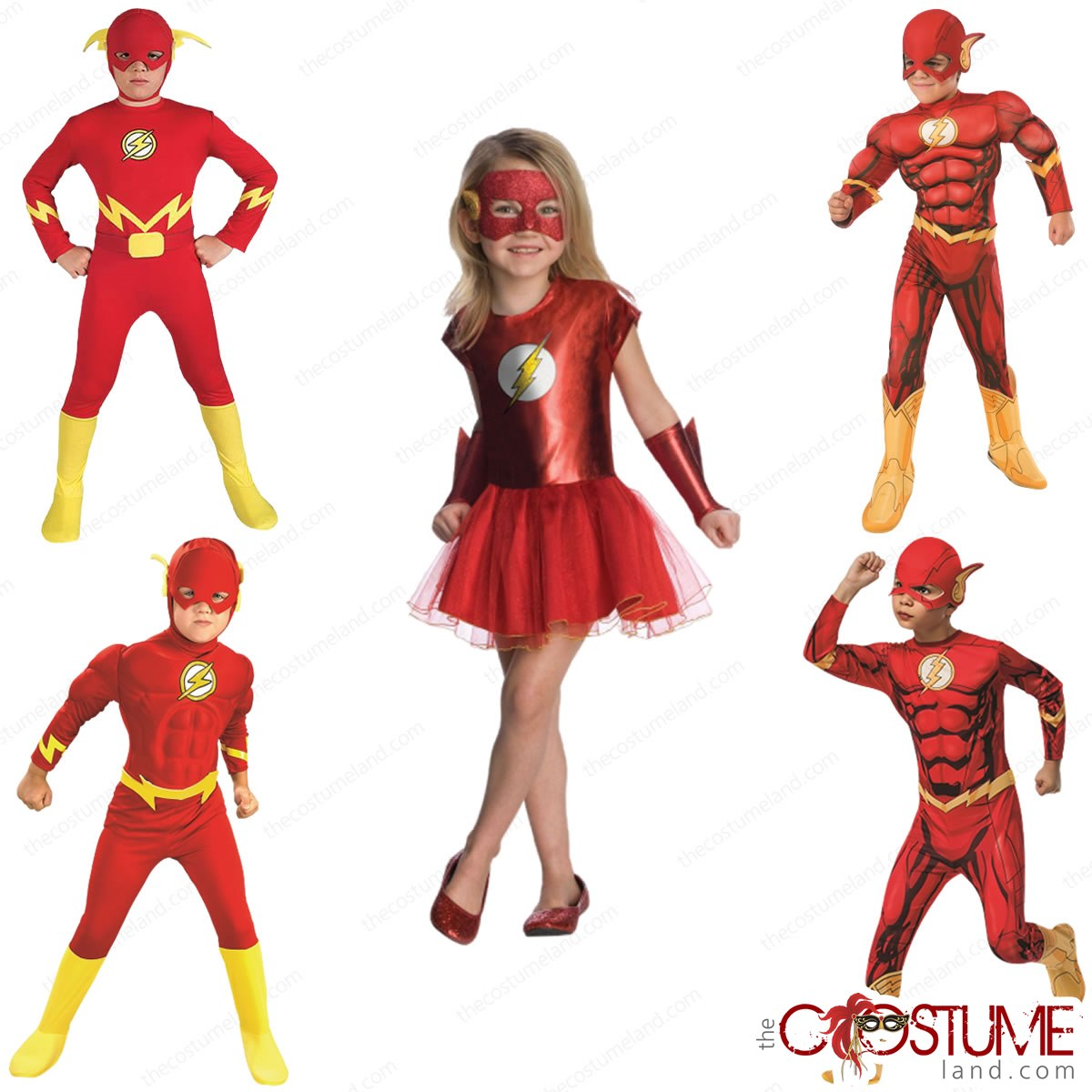Kids Flash Justice League Costume