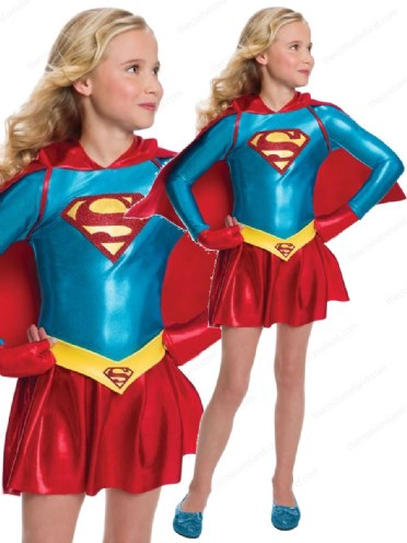 Child Licensed Supergirl Party Outfit New Fancy Dress Costume Kids Girls BN